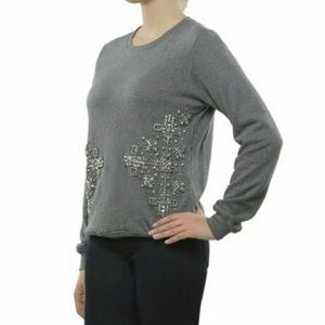 Anthro Hemant & Nandita Embellished Sweatshirt